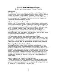 How to Write a Research Paper - University of Wisconsin - Platteville