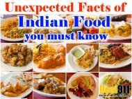 11 Unexpected Facts of Indian Food you must know