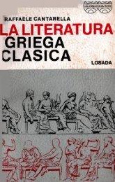 LITERATURA GRIEGA CLASICA  CANTARELLA