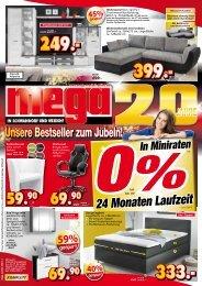 20 Jahre Mega Möbel in Schwandorf und Weiden - Unsere Bestseller zum Jubeln!