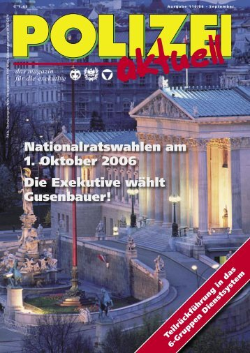 Nationalratswahlen am 1. Oktober 2006 Die Exekutive wählt ... - FSG