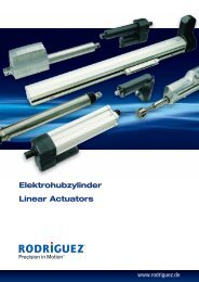 Elektrohubzylinder Linear Actuators - Rodriguez