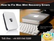 How to Fix Mac Mini Recovery Errors
