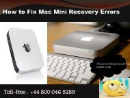 How to Fix Mac Mini Recovery Errors