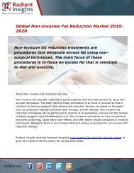 Global Non-invasive Fat Reduction Market and Forecast Report to 2020:Radiant Insights, Inc
