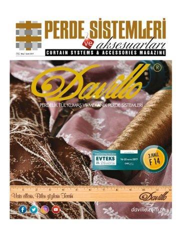 Perde Sistemleri ve Asesuarları Dergisi Mayıs-Haziran'17 Sayısı