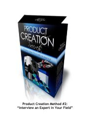 Product Creation Metho tip 2