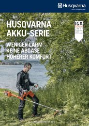 Husqvarna Akku-Broschüre 2017