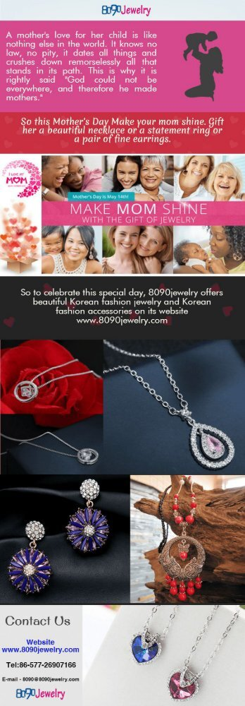 Mother's Day Gift Ideas - Korean Fashion Jewelry & Accessories