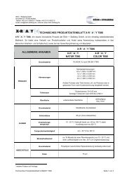 Technisches Datenblatt - Röhr + Stolberg GmbH