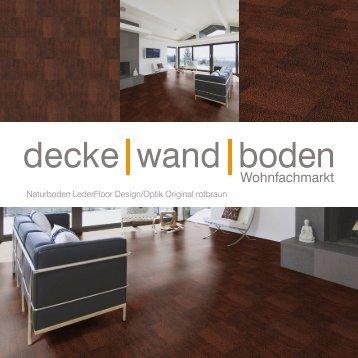 dwb Produktinformation LederFloor Original rotbraun L704