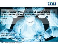 Europe Hospital Capacity Management Solutions Market Expected to Grow at a CAGR of 5.1% during 2017 to 2027