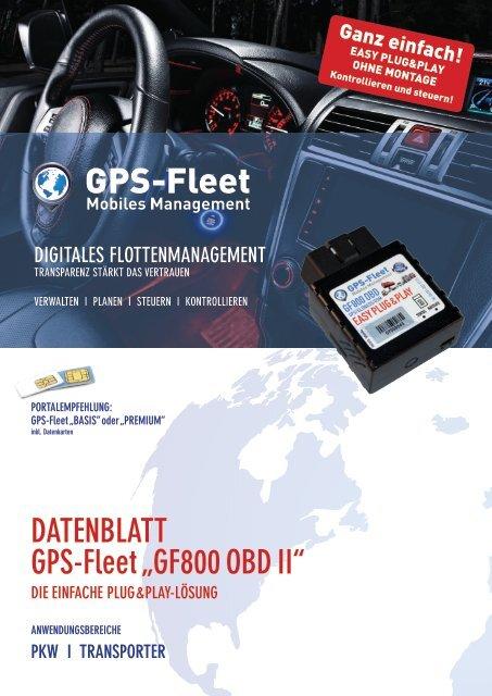 Datenblatt GF800 OBD II
