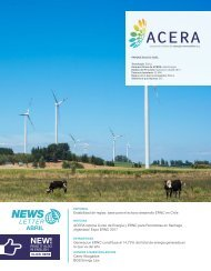 Newsletter ACERA - Abril 2017