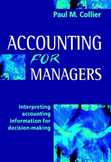 Paul Collier - Accounting for Managers