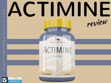 Actimine acne treatment