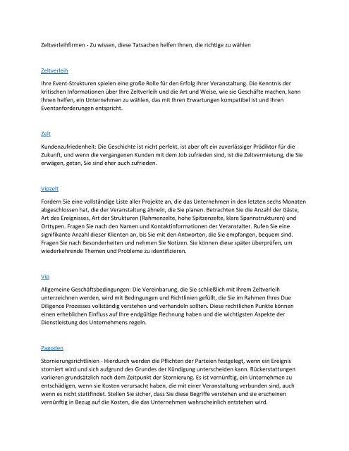 Zeltverleihfirmen - Zu wissen, diese Tatsachen helfen Ihnen, die richtige zu wählen
