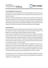 Conseils d'utilisation de l'huile de patine - Röhr + Stolberg GmbH