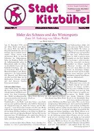Maler des Schnees und des Wintersports - Kitzbühel