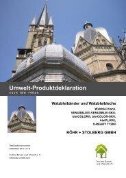 Walzbleibänder und Walzbleibleche - Institut Bauen und Umwelt