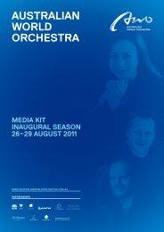 Artists - Australian World Orchestra