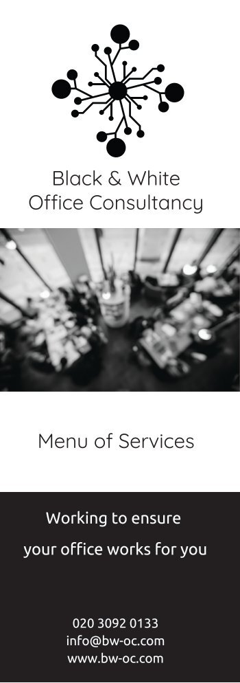 Black & White Menu of Services