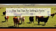 The Top Tips for Selling a Farm