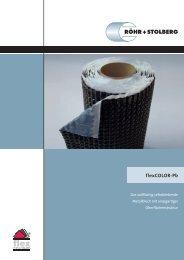 flexCOLOR-Pb – beständig und hochflexibel - Röhr + Stolberg GmbH