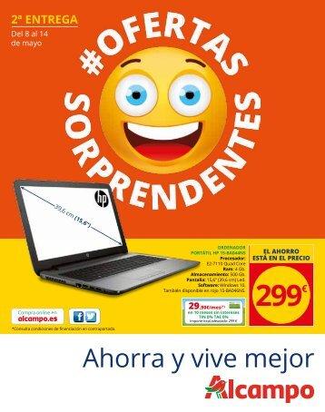 ALCAMPO OFERTAS SORPRENDENTES 2 del 8 al 14 de Mayo 2017
