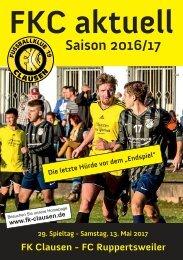 FKC Aktuell - 29. Spieltag - Saison 2016/2017