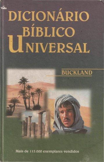 A. R. Buckland - Dicionário Bíblico Universal