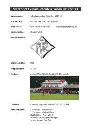 Steckbrief 2012/2013 - FV Bad Rotenfels