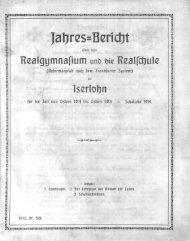 Jahres-Bericht über das Realgymnasium und die Realschule ...