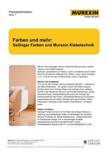 Farben und mehr: - Murexin AG