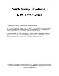 A. W. Tozer - Youth Group Devotionals