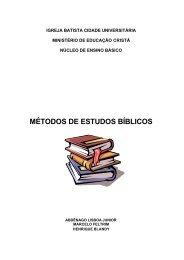 Abdênago Lisboa Júnior e Outros - Métodos De Estudos Bíblicos 1