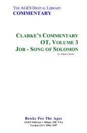 Adam Clarke - Poéticos Jó a Cantares de Salomão