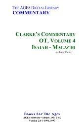 Adam Clarke - Proféticos Isaías a Malaquias