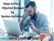 1 (800) 243-0051 How to Fix a Hijacked Browser by Norton