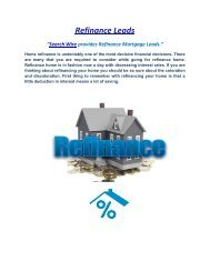 Refinance Leads By Search-Wire