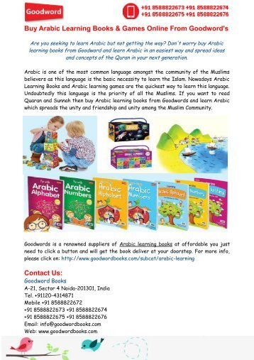 Arabic Learning Books- Easy way to learn Arabic