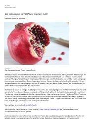Granatapfel so viel Power in nur einer Exotischen Frucht