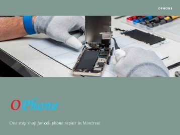 cell phone repair montreal - ophone