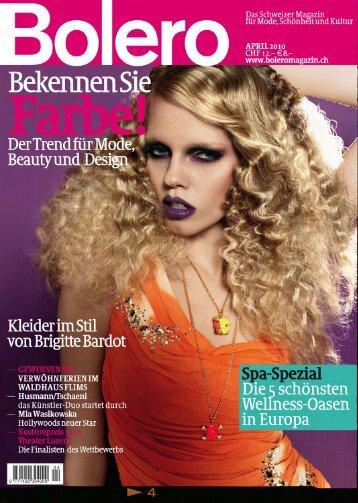 Das Schweizer Magazin für Mode, Schönhelt und Kultur