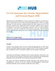 US Life Insurance Key Trends, Opportunities and Forecast Report 2020