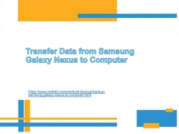 Transfer Data from Samsung Galaxy Nexus to Computer