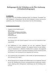 Bedingungen für die Teilnahme an der Pkw ... - USC Heidelberg