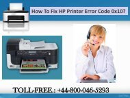 How to Fix HP Printer Error Code 0x10? | HP Technical Support Number
