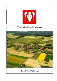 Volken im 19. Jahrhundert - Gemeinde Volken