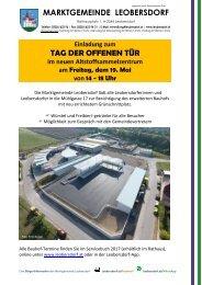 Postwurf Mai / Marktgemeinde Leobersdorf
